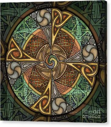 Celtic Aperture Mandala Canvas Print by Kristen Fox