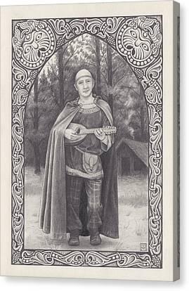 Celtic Bard Canvas Print by Tania Crossingham