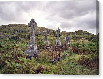 Canvas Print featuring the photograph Celtic Cemetary by Hugh Smith
