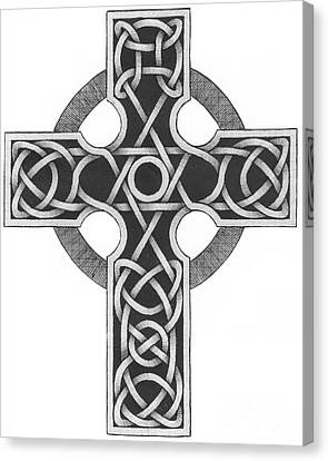 Celtic Cross Canvas Print by Chris Tetreault
