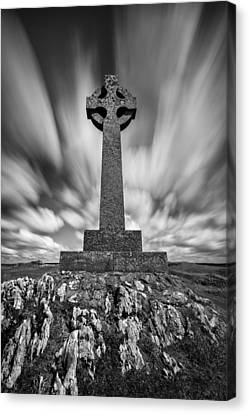 Celtic Cross Canvas Print by Dave Bowman
