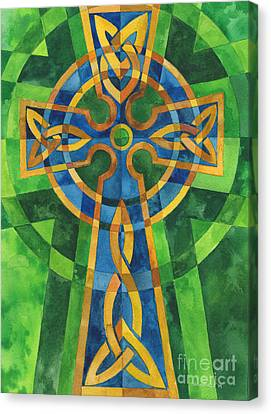 Celtic Cross Canvas Print by Mark Jennings