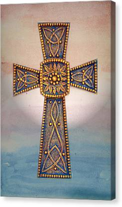 Celtic Cross Sunrise Canvas Print by Sandi OReilly