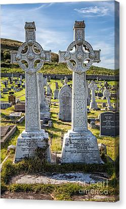 Celtic Crosses Canvas Print by Adrian Evans
