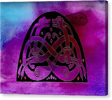 Scottish Dog Canvas Print - Celtic Dogs Symbol  by Kandy Hurley
