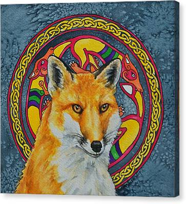 Celtic Fox Canvas Print