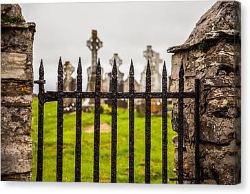 Celtic Graveyard Canvas Print by Craig Brown