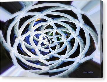Celtic Knot Canvas Print by Donna Blackhall