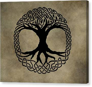 Celtic Tree Of Life Canvas Print by Dan Sproul