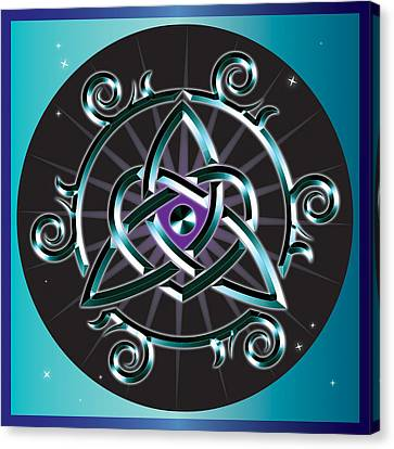 Celtic Triquetra Heart Canvas Print by Ireland Calling