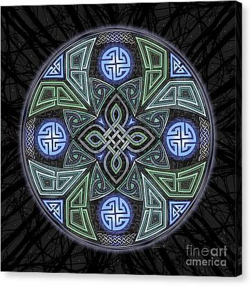 Celtic Ufo Mandala Canvas Print