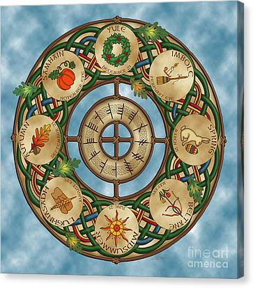 Celtic Wheel Of The Year Canvas Print