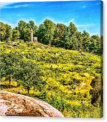 Cemetary Ridge Gettysburg Battleground Canvas Print by Bob and Nadine Johnston