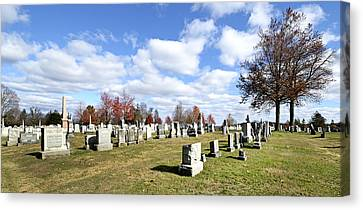 Cemetery At Gettysburg National Battlefield Canvas Print by Brendan Reals