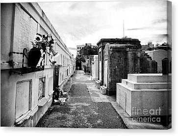 Cemetery Departed Canvas Print by John Rizzuto