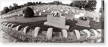 Cemetery  Fayettville Tennessee Canvas Print by   Joe Beasley
