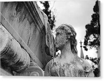 Cemetery Gentlewoman Canvas Print by Jennifer Ancker