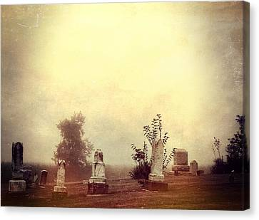 Cemetery In The Fog Canvas Print