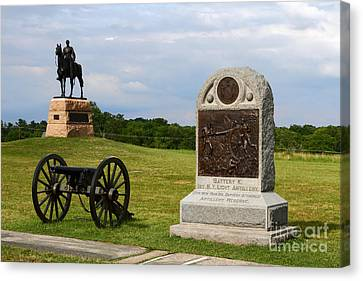 Cemetery Ridge Gettysburg Canvas Print by James Brunker