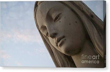 Canvas Print featuring the photograph Cemetery Statue by Justin Moore