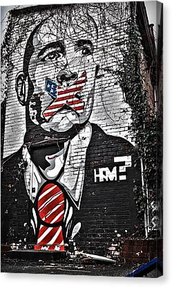 Censorship Canvas Print - Censorship Expressed Mural by Brian Archer