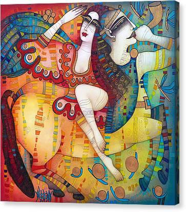 Centaur In Love Canvas Print