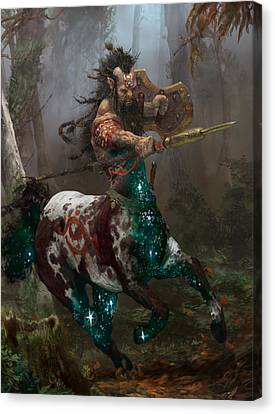Centaur Token Canvas Print