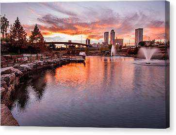 Centennial Park Sunset - Tulsa Oklahoma Canvas Print