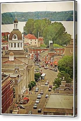 Cityhall Canvas Print - Center Of Interest by Donna Brown