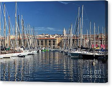 Centered In The Port Canvas Print by John Rizzuto