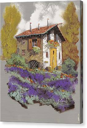 Old Houses Canvas Print - Cento Lavande by Guido Borelli