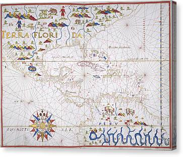 Central America And West Indies Canvas Print by British Library