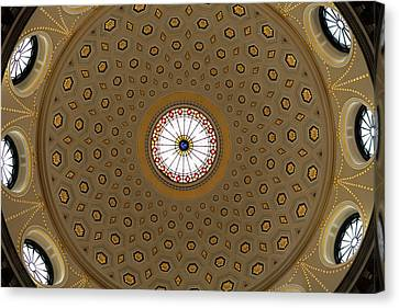 Central Dome, The City Hall, Opened Canvas Print by Panoramic Images