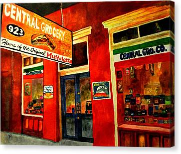 Central Grocery Canvas Print by Jill Jacobs