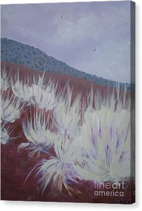 Canvas Print featuring the painting Central Oregon Contrasts by Suzanne McKay