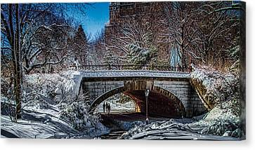 Central Park After Nemo Canvas Print by Chris Lord