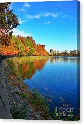 Central Park Autumn Landscape Canvas Print