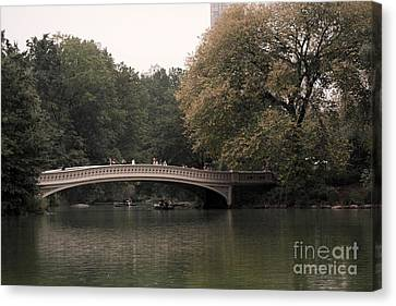 Central Park Bow Bridge Canvas Print by David Bearden