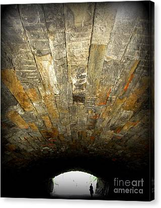 Central Park Bridge Canvas Print by Maria Scarfone