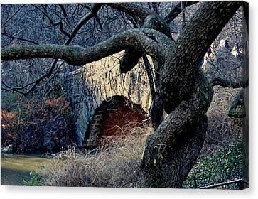 Central Park Bridge Canvas Print