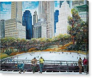 Central Park Ice Rink Canvas Print by Mitchell McClenney