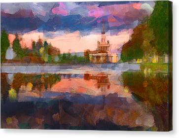 Central Park In Moscow Canvas Print by Yury Malkov