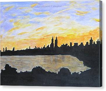Central Park In Newyork Canvas Print