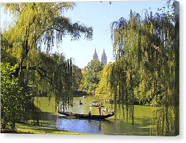 Central Park Lake Canvas Print