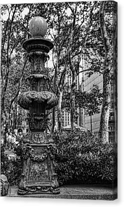 Central Park Lamp Post Canvas Print