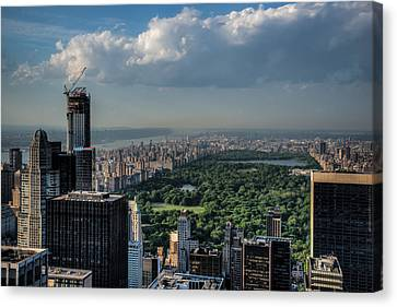 Canvas Print featuring the photograph Central Park New York City by Chris McKenna