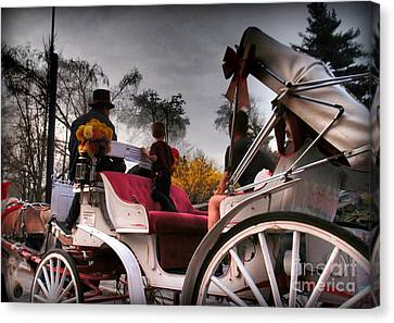Central Park New York - Romantic Carriage Ride 2 Canvas Print by Miriam Danar