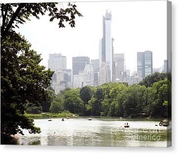 Central Park Pond Canvas Print by Robert Daniels