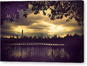 Central Park Twilight Canvas Print