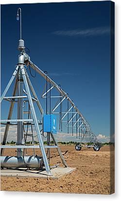 Centre-pivot Irrigation Boom Canvas Print by Jim West